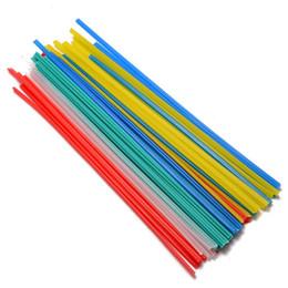 Schweißstäbe online-50 stücke 25 cm Länge Kunststoff Schweißstäbe Schweißer Sticks 5 Farben Blau / Weiß / Gelb / Rot / Grün Für löten