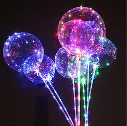 18 pouces Effacer Bobo Ballon Ballon Transparent Ball avec Cuivre LED Guirlande Lumineuse Jour De La Fête De Mariage Décor c718 ? partir de fabricateur