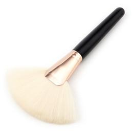 Wholesale Large Makeup Fan Brush - 1pc 1PC Large Fan Shape Makeup Brushe foundation brush Soft Thick Hair Cosmetic Brush Make Up Tool