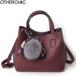 85e80a790632 OTHERCHIC Fashion Faux Leather Women Handbags Burgundy Solid Women Double  Bags All Match Brand Clemence Messenger Bag L-7N11-16