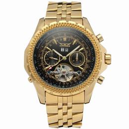Женские часы jaragar онлайн-wengle новый JARAGAR календарь многофункциональный маховик мужчины стальная полоса полые платье подарок роскошные повседневные механические часы
