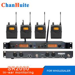 Bayi için! SR2050 Professional 4 Alıcılı kulak monitör sistemi, kulak kablosuz monitör, Sahne izleme monitörü nereden gizli güvenlik kameraları sesi tedarikçiler