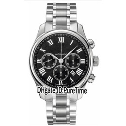 Wholesale Collections Auto - Sale New Luxury Master Collection L2.859.4.51.6 Black Dial Automatic Day Date Mens Watch Sports Stainless Steel Strap Sports Watches 165b2
