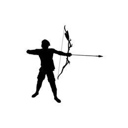 2019 flèches vertes arc Arc et flèche Silhouette Sport Garçon Autocollant De Voiture Vinyle Emballage De Voiture Accessoire Motif Jeu De Décalque De Voiture promotion flèches vertes arc