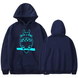 Wholesale Totoro Clothes - Totoro Printed Hoodie for Men Clothing Autumn Spring Pullovers Casual Cute Sweatshirts Tops Sports Wear