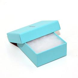 anillos de lujo azul Rebajas Alta calidad joyería de moda de lujo cajas de embalaje azul collar de plata anillos de la pulsera pendiente al por menor caja de regalo envío gratis