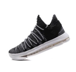 Wholesale Baseball Signature - Kids KD 10 Basketball shoes Hot Sale FMVP Signature Shoes Classic 9 Style Kevin Durant Sneaker Athletic Outdoor Free Shipping With Box