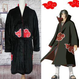 2019 xxxl naruto cosplay Naruto Roupão Cosplay Akatsuki Pijamas de Flanela De Inverno Robes Uchiha Itachi Traje de Halloween