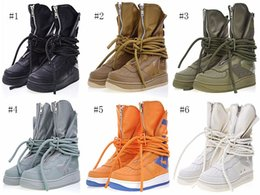 Wholesale force wind - High Forced 1 SF Sports Shoes Men Women Breathable Sneakers With Zipper And Winding Shoelaces Functional Boots