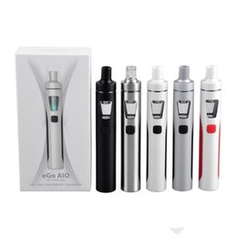 Wholesale E Cigarette Joyetech - High quality E-cigarette Joyetech eGo AIO Quick Start Kits 1500mAh battery 2.0ml Childproof Tank Lock All-in-one style Device Wholesale