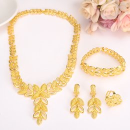 Wholesale Ethiopian Earrings - 24kgold Ethiopian Jewelry sets Africa Earrings Jewellery Sudan Nigeria CongoTrinidad Enkutatash Habesha Wedding Arab