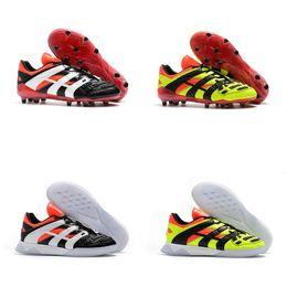 b594f764ba47 Nuevo 2018 Top Quality Predator Accelerator Electricity FG   IC Zapatos de  fútbol FG Football Boots Soccer Cleats Sneakers rebajas nuevo depredador de  tacos ...