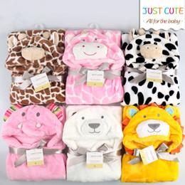 Cobertores de bebê on-line-10 PCS! 3D dos desenhos animados Cobertores Do Bebê Macio 76 cm * 92 cm 0-6 anos de idade crianças fllannel cobertor crianças toalha de banho bonito animal forma bebê manto