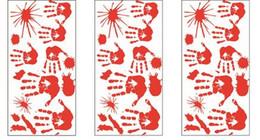 Empreintes de sang sangles de plancher Halloween Vampire Zombie Décorations de fête Stickers Autocollants Fournitures Halloween Party Cosplay Parties ? partir de fabricateur