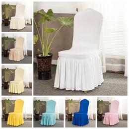 Sedie del ristorante online-Wedding Party Chair Cover Ristorante Hotel Sedia Coprivaso Home Decori Coprisedili Spandex Stretch Banchetto Plain NNA299