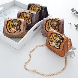 Wholesale Leather Backpack Purse New - 2018 new Fashion tiger Girls Bags princess Children Leather Bag Kids Handbags Messenger Bag shoulder bags Girls small bags Kids Purses A1616