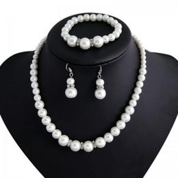 primeira noiva Desconto Fonte de comércio exterior europeu e americano clássico xiangbala anel de diamante colar de pérolas conjunto de temperamento de noiva primeiro jóias de três peças se
