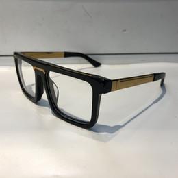 Wholesale Eye Glasses Half Frame Men - Luxury 0078 Glasses For Men Fashion Brand Design Popular Hollow Out Optical Lens Cat Eye Full Frame Black Tortoise Silver Come With Package