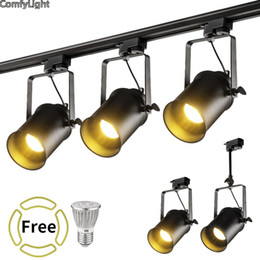 Wholesale Exhibition Lighting - LED Track Light Clothing Shop Windows Showrooms Exhibition Spotlight COB LED Ceiling Rail Spot Lamp Traditional Collection Light