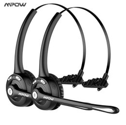 Wholesale Over Ear Headphones Microphones - Mpow Pro (2-pack) Professional Over-the-Head Driver Wireless Bluetooth headphone Microphone Noise Cancelling Headphones