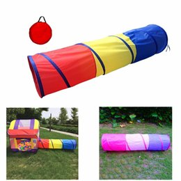 2019 всплывающие игровые площадки Pizies 1Pc 180* 48 * 48cm Play Tunnel Toy Tent Child Kids Pop Up Discovery Tube Outdoor Kids Toy Best Gift дешево всплывающие игровые площадки