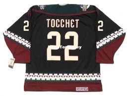 Discount phoenix hockey jersey - custom Mens Jerseys RICK TOCCHET Phoenix Coyotes 1998 CCM Vintage Cheap Retro Hockey Jersey