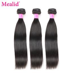 [Mealid] Des ensembles de tissages de cheveux raides péruviens 1 pièce seulement peuvent acheter 3 ou 4 faisceaux d'extensions de cheveux non remy couleur 1B ? partir de fabricateur