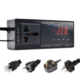 Controladores de aquário on-line-Controladores de temperatura Switchable Termostato Eletrônico Digital Controller w / Soquete para Réptil Aquarium Regulator UCONTRO -40 ~ 212 F