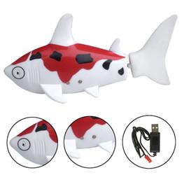 Wholesale Good Quality Fish - Good Quality Children Mini RC Shark Fish Coke Can Radio Control RC Mini Electronic Shark Fish Boat Baby Kids Toy Gift 3 colors DHL Free