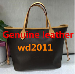 Wholesale Quality Shopping - Excellent quality 100% genuine leather women shoulder bag women shopping bag tote women bag 40996
