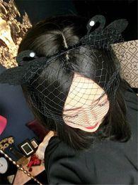 Ретро Черный лебедь чистая вуаль маска партии маска партии маска партии головной убор повязка на голову. от Поставщики лебединая маска