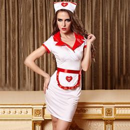 Canada femme sexy adulte infirmière aux épices Role Play Cosplay lingerie uniforme tentation Croix-Rouge Uniformes Jeux halloween costumes pour femmes cheap sexy women games Offre