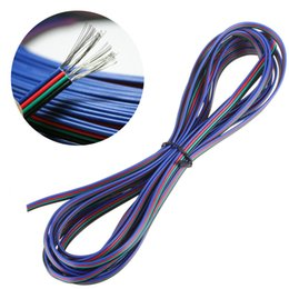 Wholesale Pin Meter - 164FT 50M 50 Meters RGB 4-Pin Extension Connector Cable Cord For 3528 5050 RGB LED Strip Indoor Lighting Extension Cord Lighting Accessorie