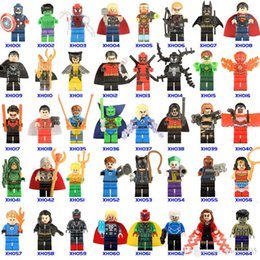 Wholesale joker action figure toys - 700+ Building Blocks Super Hero Figures Toys The Avengers Toys Joker Toys mini Action Figures Bricks minifig Christmas gifts