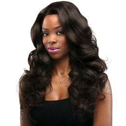 hair dye hairstyles Coupons - Lace Front Wigs Loose Wave Full Lace Wigs Peruvian Brazilian Human Hair Natural Color Can Be Dyed FDSHINE