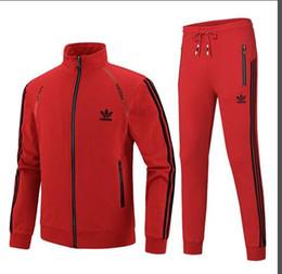 2018 nuevos hombres Sportwear Traje Sudadera Chándal Sin hombres Casual Active Zipper Outwear Jacket + Pants Sets L-4XL desde fabricantes