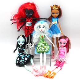 2019 giocattoli della ragazza del ragno Bambole di alta qualità Fasion Monster Draculaura / Clawdeen Wolf / Frankie Stein / Nero WYDOWNA Spider Moveable Body Girls Toys Gift sconti giocattoli della ragazza del ragno