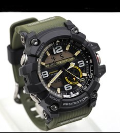 Wholesale glass top display - Top Brand Luxury Camouflage GG1000 Small Working Dail Multi Functional G Style Waterproof Military Shock Watches Analog Quartz Outdoor Clock