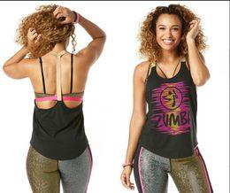 Wholesale Women Spandex Tank Tops - woman vest Get Up And Dance Tank racerback yoga dance tops black pink green color S M L