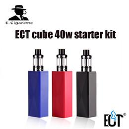 Wholesale Electronic Refills - 100% Original ECT Cub 40 Mod Kit 2200mAh Electronic Cigarette Kit Big Vape 2.0ml Elfin Atomizer vapor Top Refilling Vaporizer E-cigarettes