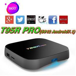 Wholesale Blackbox Hdmi - T95Rpro 2GB 8GB Smart Android 7.1 Marshmallow IPTV TV boxes 4K Ares SpinzTV Blackbox S912 Octa core 2.4G WIFI T95R VS H96 X92