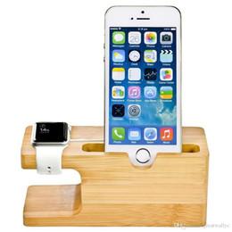 Ladestation aus Bambusholz für Apple Watch Ladestation Ladestation Halter für iPhone 5s 6 Dock Stand Cradle Holder von Fabrikanten