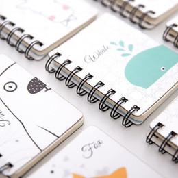 2019 livro em capa dura 1 Pcs Encantador Animal Capa Dura Papel De Coil Notebook Caderno 80 Folhas Em Branco Mini Planejador Portátil Simples Livro De Bolso desconto livro em capa dura