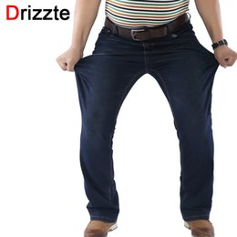 Wholesale Men Jeans Work - Drizzte Mens Stretch Plus Size 36 38 40 42 44 46 48 Jeans Blue Denim Business Jean Relax Work Trousers Pants