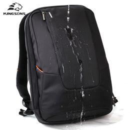 Корейская школьная тетрадь онлайн-Kingsons Марка водонепроницаемый Мужчины Женщины ноутбук рюкзак 15.6 дюймов ноутбук сумка корейский стиль школьные рюкзаки для мальчиков девочка