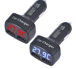2019 12-вольтовый адаптер usb 12V автомобиль ЖК-LED двойной USB зарядное устройство адаптер питания 2 USB порт автомобильное зарядное устройство для iPhone Samsung телефон дешево 12-вольтовый адаптер usb