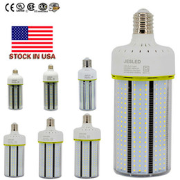Wholesale New Highway - NEW 30W 40W 60W 80 100W 120W LED Corn Bulbs with input Cooling Fan High Bright E27 E40 Base AC85~265V Corn Light UL