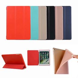 Étui magnétique apple ipad en Ligne-Étui en cuir mince élégant Smart Cover Flip Folio Stand étui antichoc TPU pour iPad Pro 9.7 2018 Mini Air 5 6