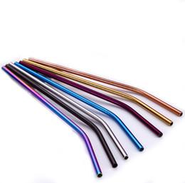 Canada Outil à boire coloré de coupe de paille réutilisable de paille à boire de l'acier inoxydable 304 Offre