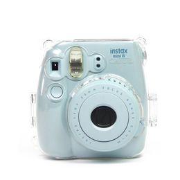 Bolsa Nuevo plástico transparente para Fujifilm Instax Mini 8 9 Funda protectora Bolsa protectora + Correa de cámara Fuji desde fabricantes